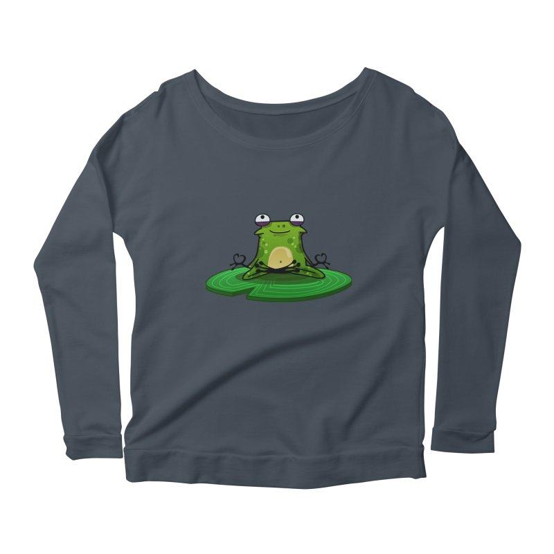Sensei the Frog Women's Scoop Neck Longsleeve T-Shirt by mikibo's Shop