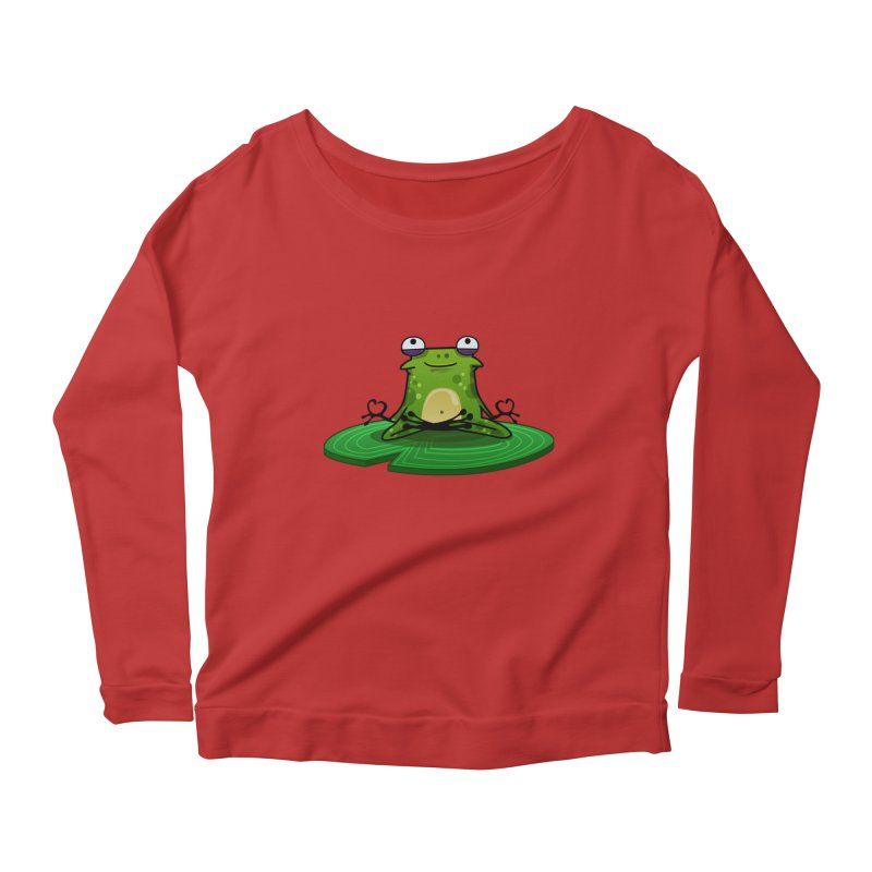 Sensei the Frog Women's Scoop Neck Longsleeve T-Shirt by mikibo's Shop