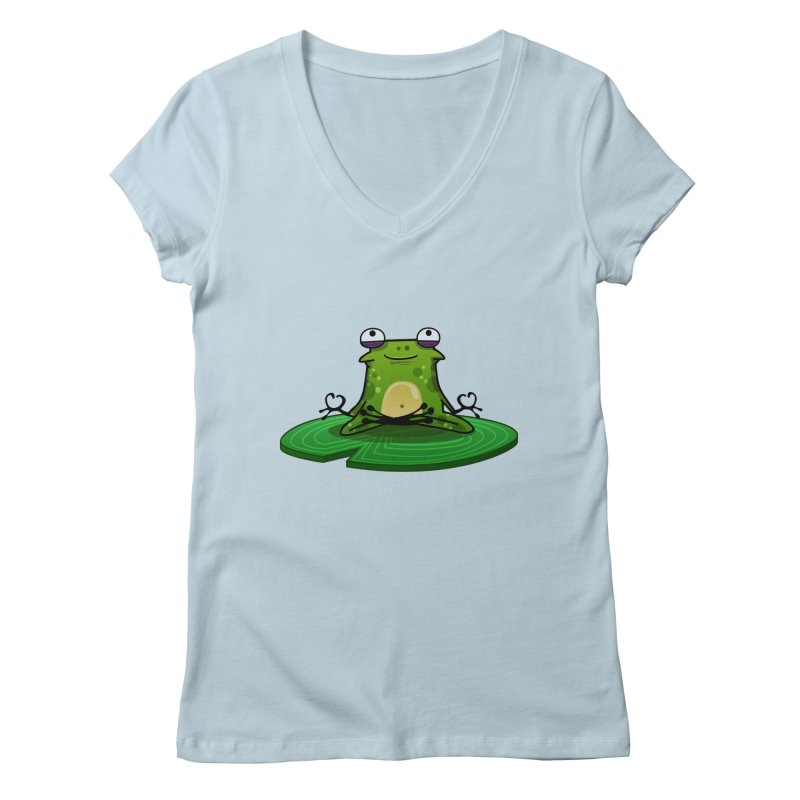 Sensei the Frog Women's Regular V-Neck by mikibo's Shop