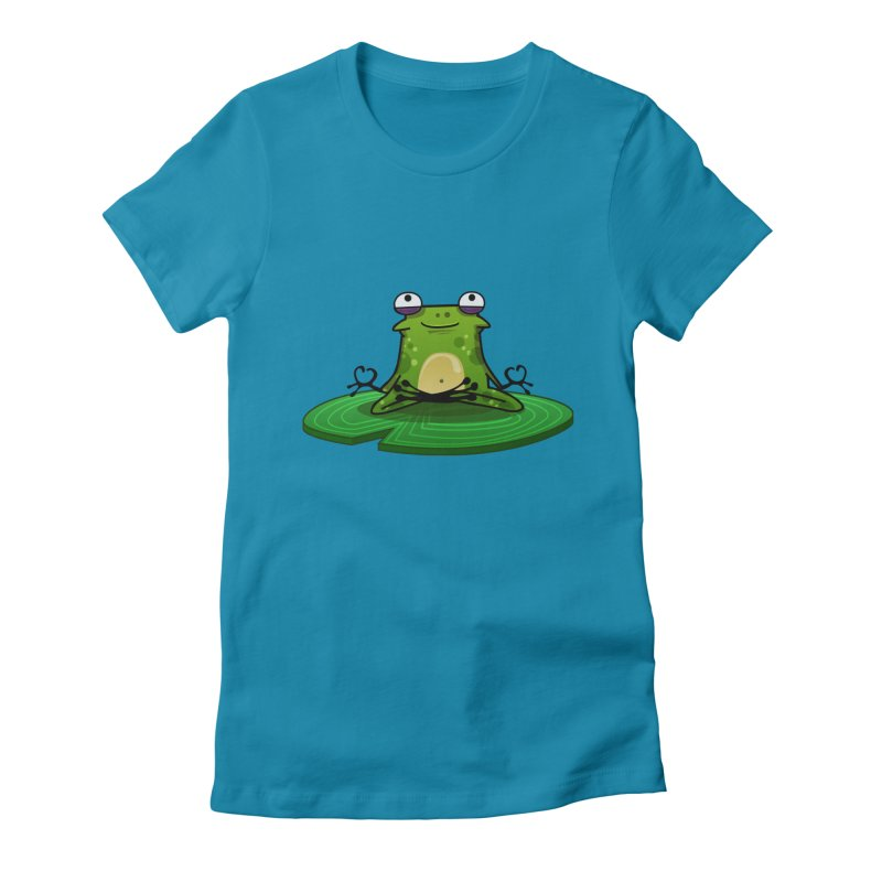 Sensei the Frog Women's Fitted T-Shirt by mikibo's Shop