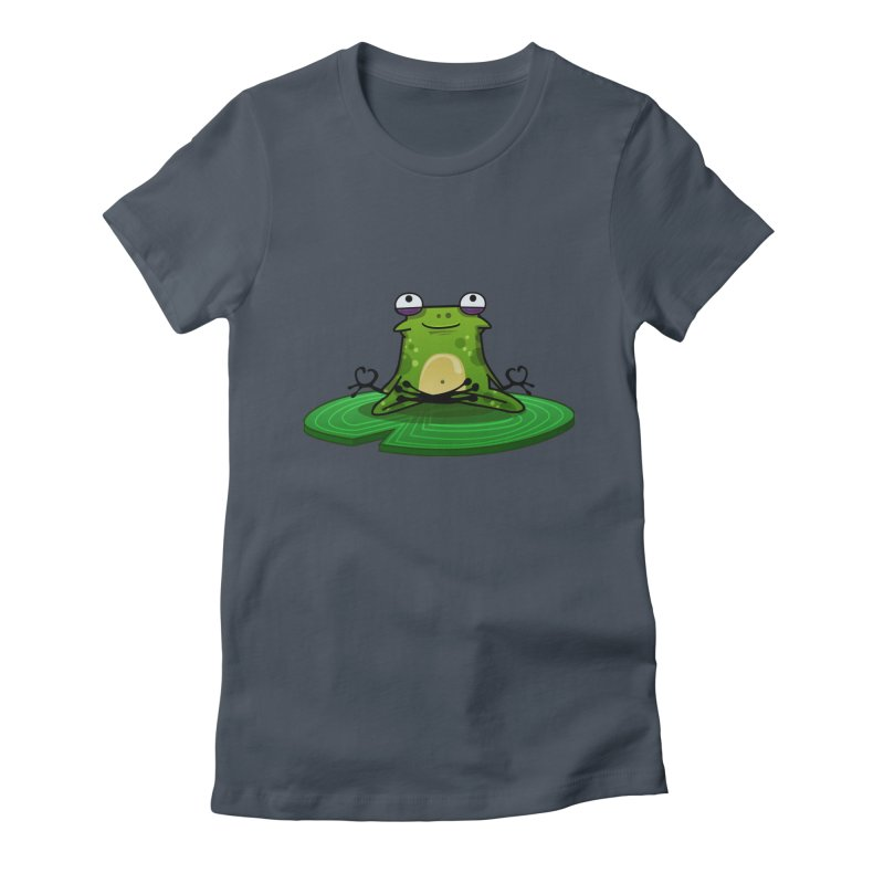 Sensei the Frog in Women's Fitted T-Shirt Denim by mikibo's Shop