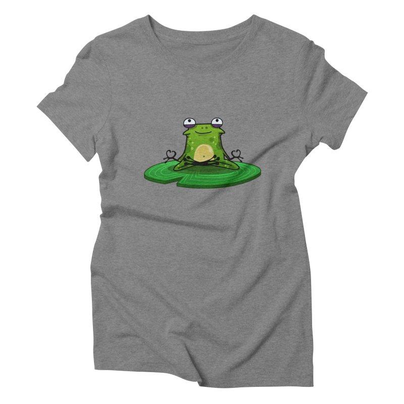 Sensei the Frog Women's Triblend T-Shirt by mikibo's Shop
