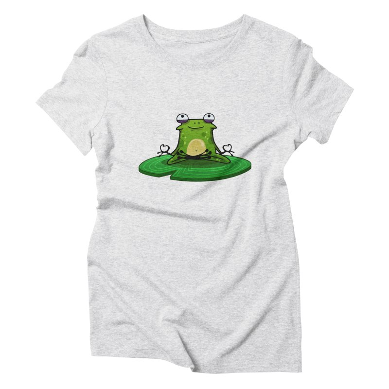Sensei the Frog Women's Triblend T-Shirt by mikibo's Shop