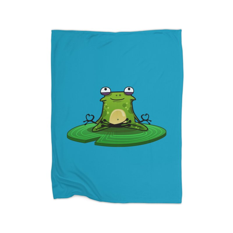 Sensei the Frog Home Fleece Blanket Blanket by mikibo's Shop