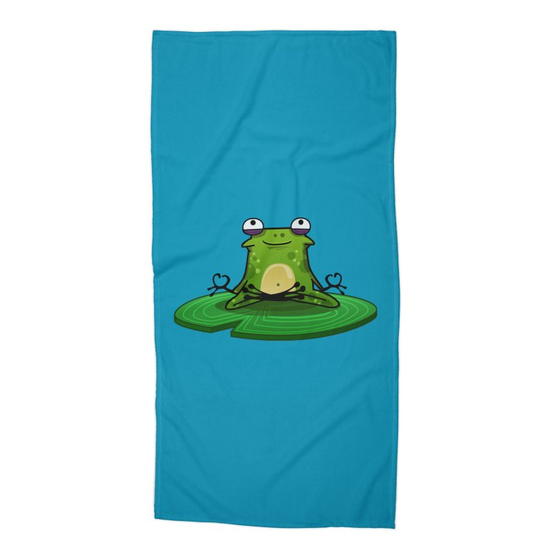 Sensei the Frog Accessories Beach Towel by mikibo's Shop