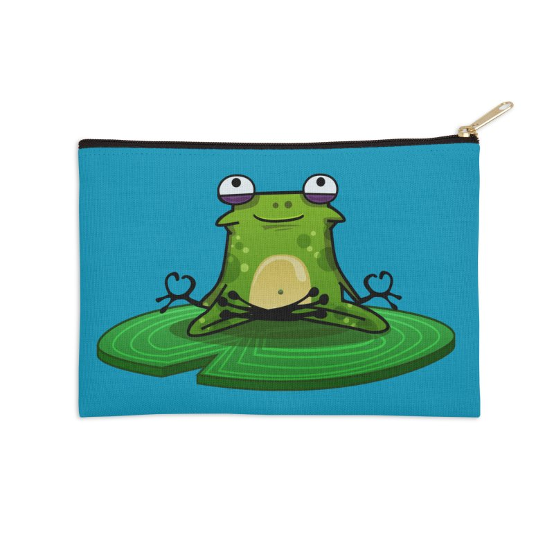 Sensei the Frog Accessories Zip Pouch by mikibo's Shop