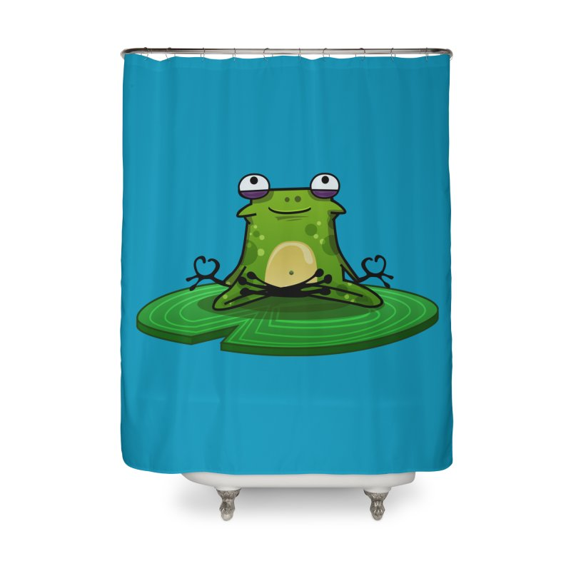 Sensei the Frog Home Shower Curtain by mikibo's Shop