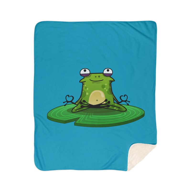 Sensei the Frog Home Sherpa Blanket Blanket by mikibo's Shop