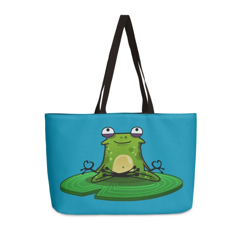Sensei the Frog Accessories Weekender Bag Bag by mikibo's Shop