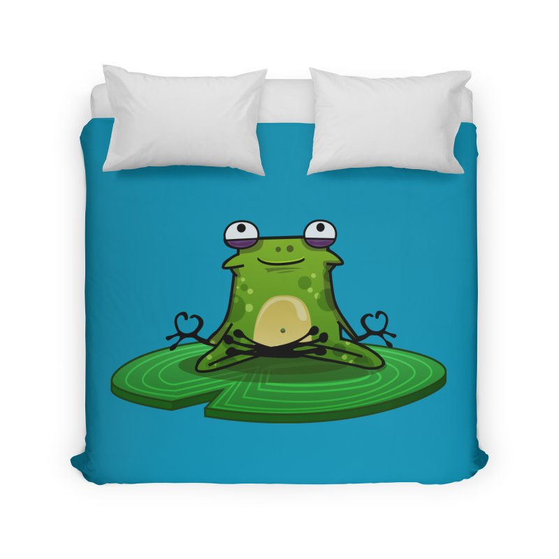 Sensei the Frog Home Duvet by mikibo's Shop