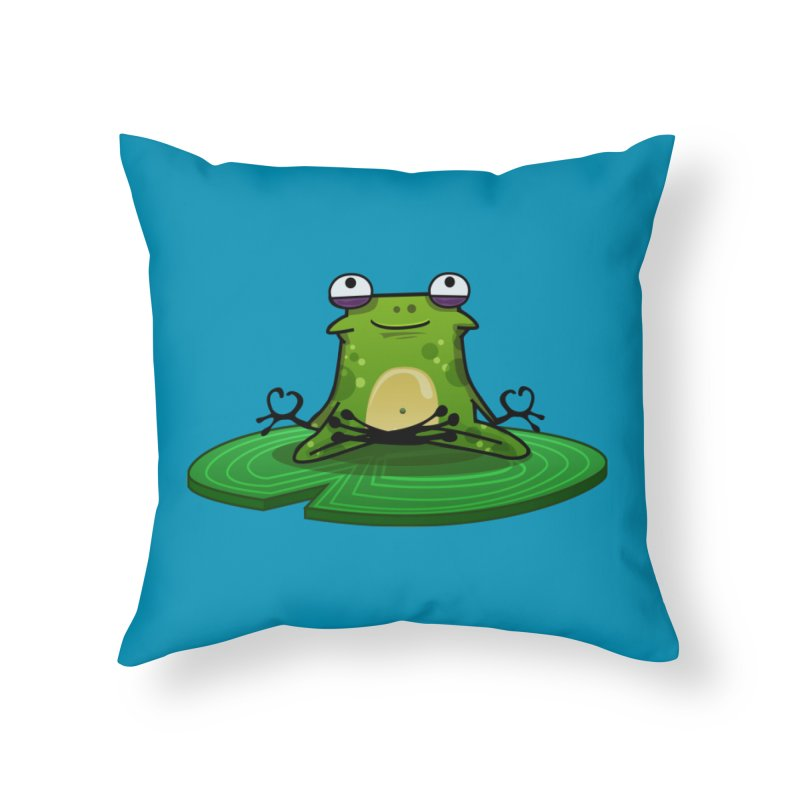 Sensei the Frog Home Throw Pillow by mikibo's Shop