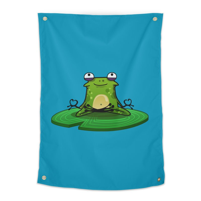 Sensei the Frog Home Tapestry by mikibo's Shop