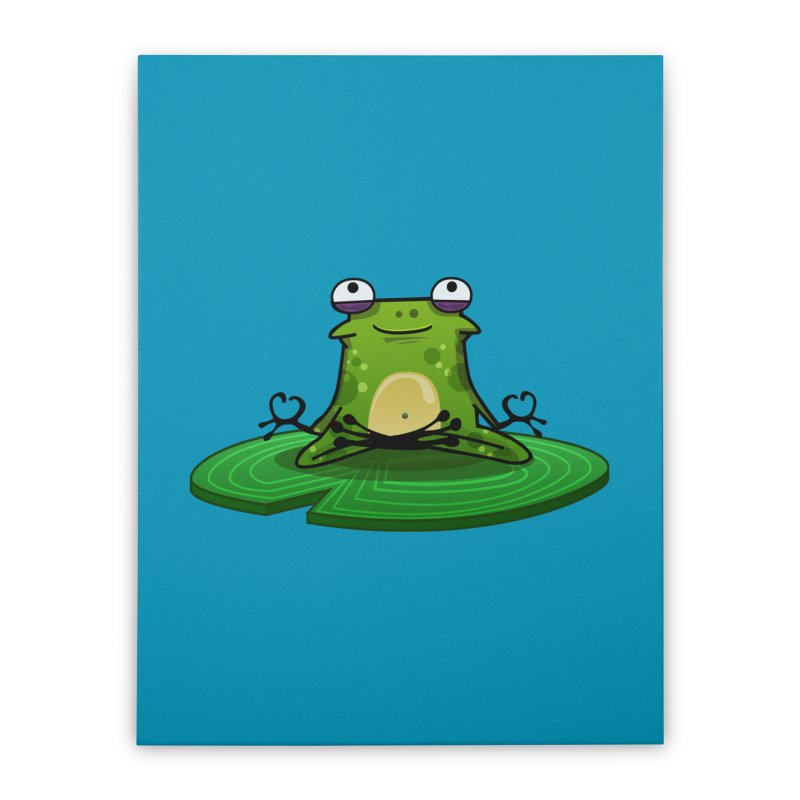 Sensei the Frog Home Stretched Canvas by mikibo's Shop