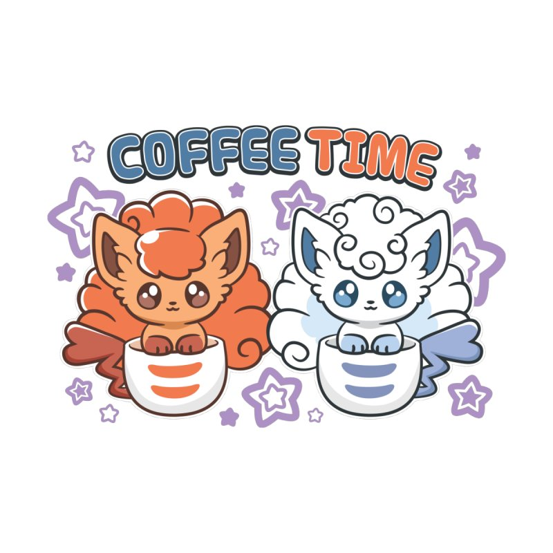 Coffee Foxes Men's T-Shirt by ZombieMiki's Shirts & Stuff