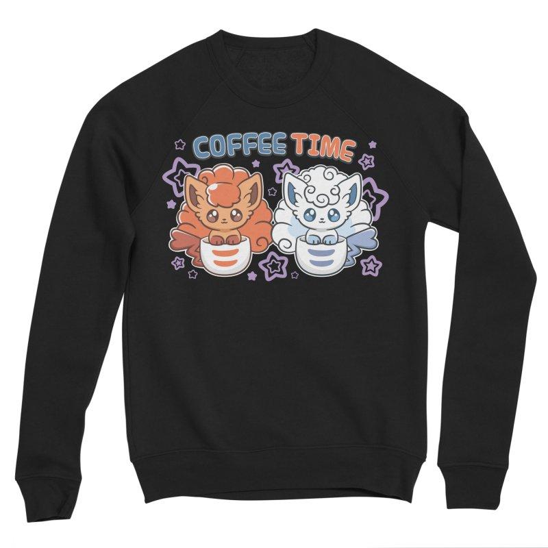 Coffee Foxes Men's Sponge Fleece Sweatshirt by ZombieMiki's Shirts & Stuff