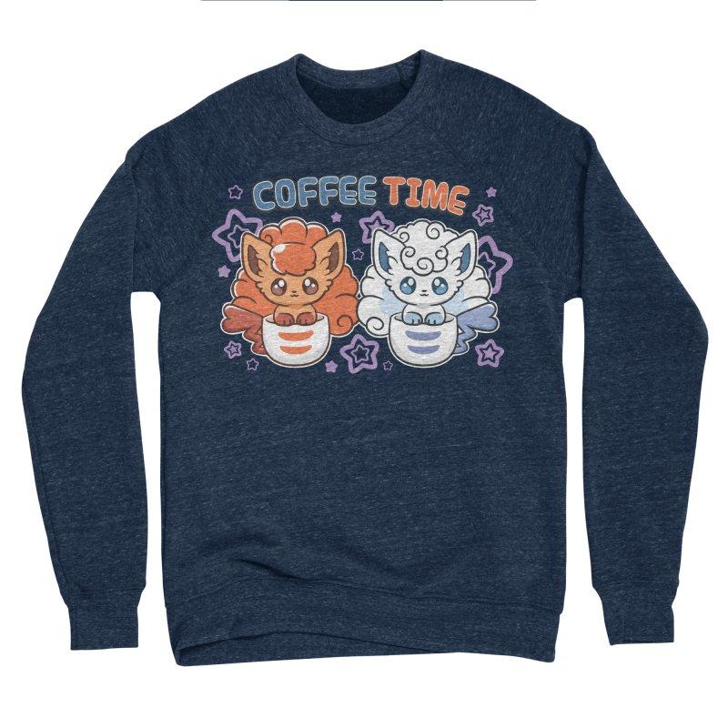 Coffee Foxes Women's Sponge Fleece Sweatshirt by ZombieMiki's Shirts & Stuff