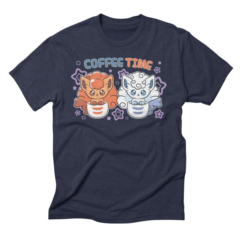 Coffee Foxes Men's Triblend T-Shirt by ZombieMiki's Shirts & Stuff
