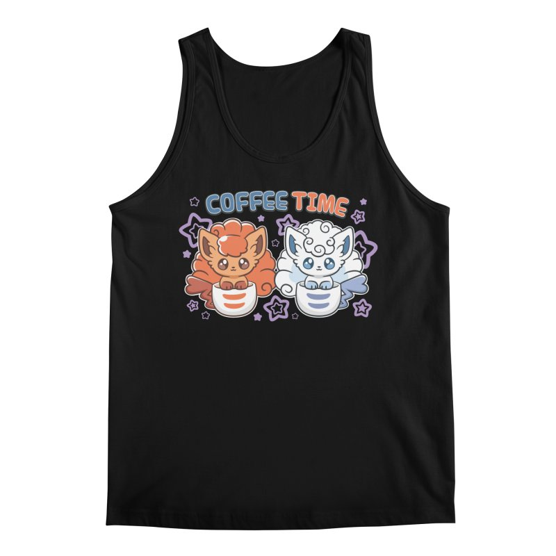 Coffee Foxes Men's Regular Tank by ZombieMiki's Shirts & Stuff