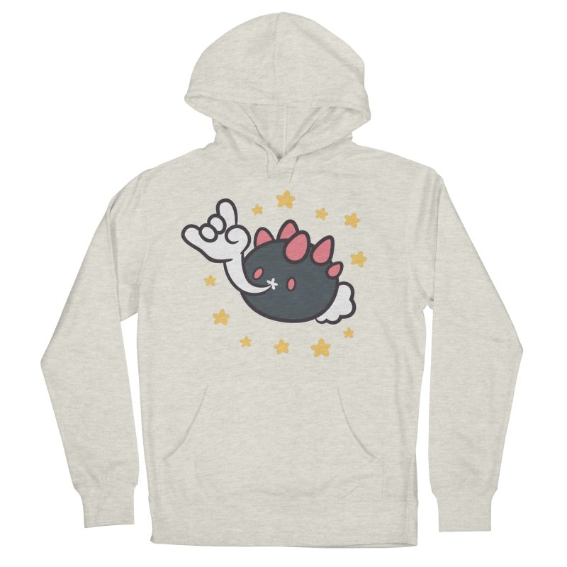 Devil Horns Men's French Terry Pullover Hoody by ZombieMiki's Shirts & Stuff