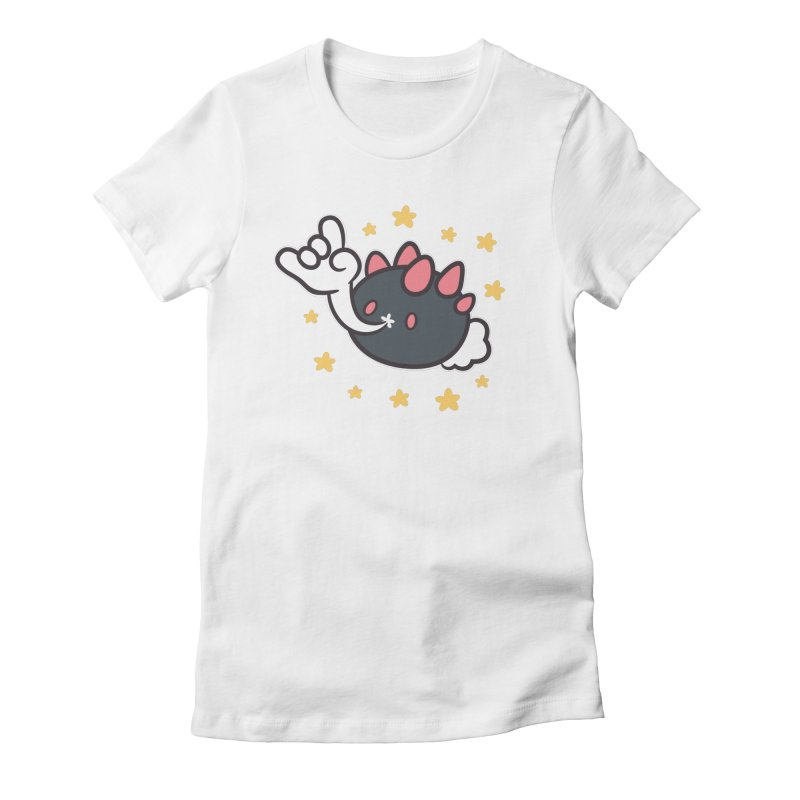 Devil Horns Women's Fitted T-Shirt by ZombieMiki's Shirts & Stuff