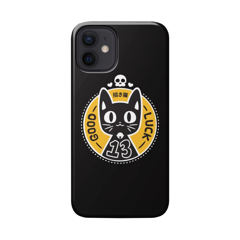 Black Cat Accessories Phone Case by ZombieMiki's Shirts & Stuff