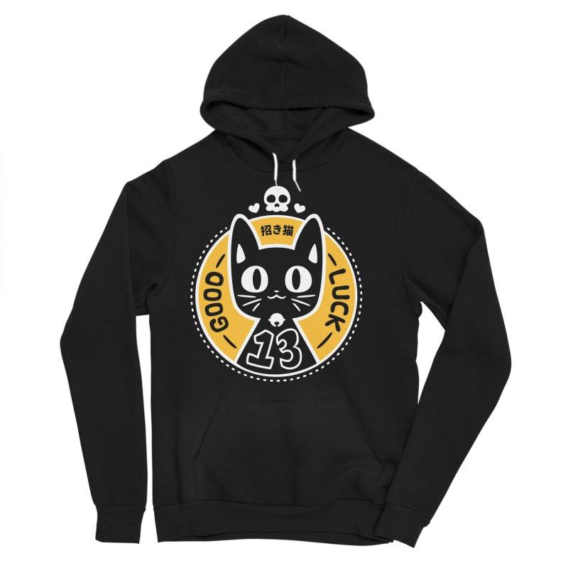 Black Cat Men's Sponge Fleece Pullover Hoody by ZombieMiki's Shirts & Stuff
