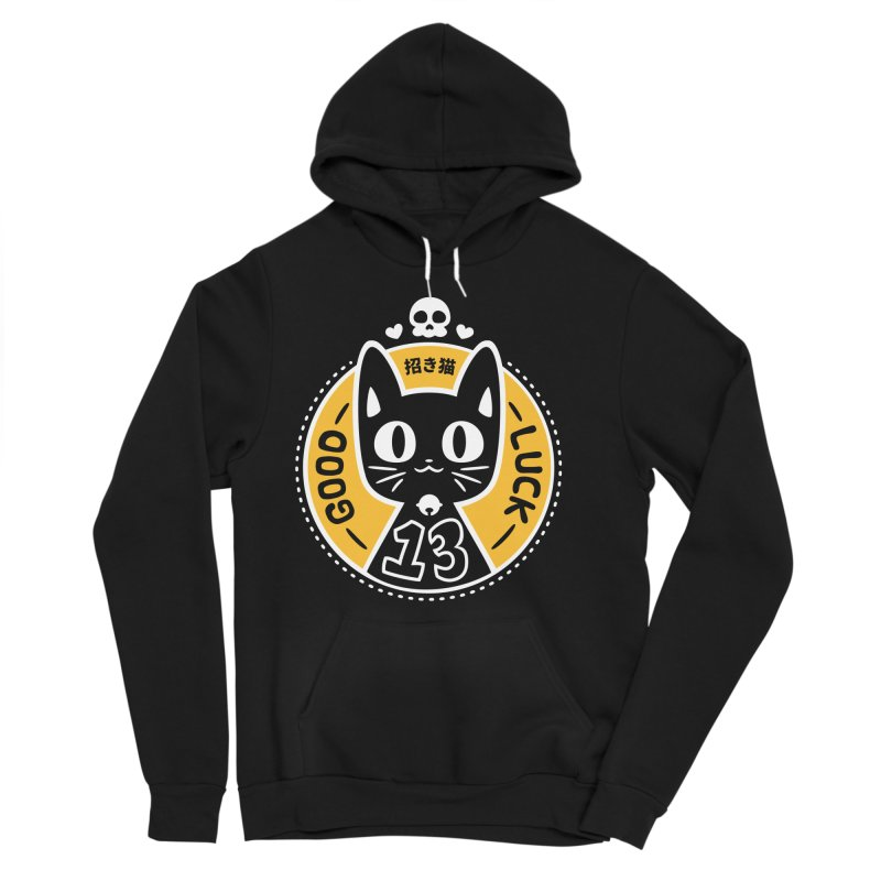 Black Cat Women's Sponge Fleece Pullover Hoody by ZombieMiki's Shirts & Stuff