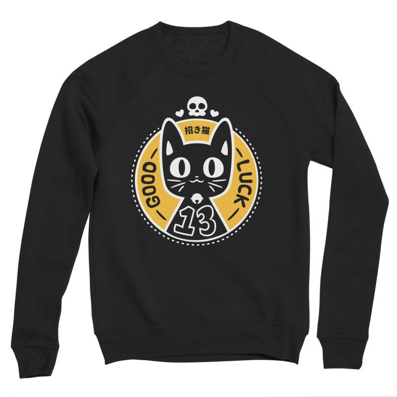 Black Cat Men's Sponge Fleece Sweatshirt by ZombieMiki's Shirts & Stuff