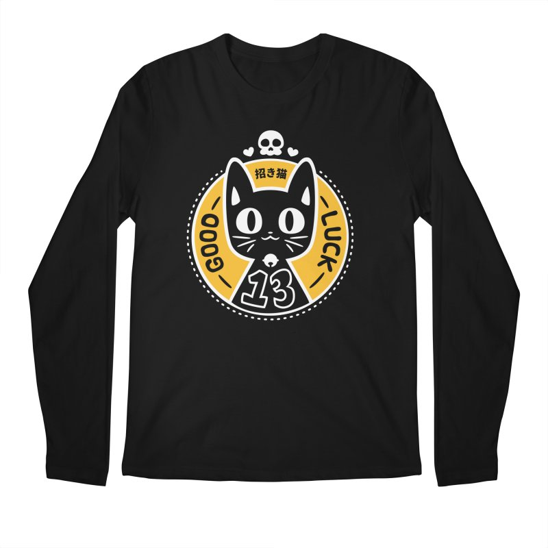 Black Cat Men's Longsleeve T-Shirt by ZombieMiki's Shirts & Stuff