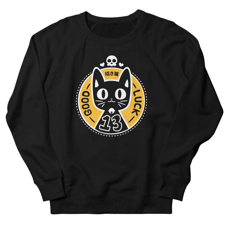 Black Cat Women's French Terry Sweatshirt by ZombieMiki's Shirts & Stuff