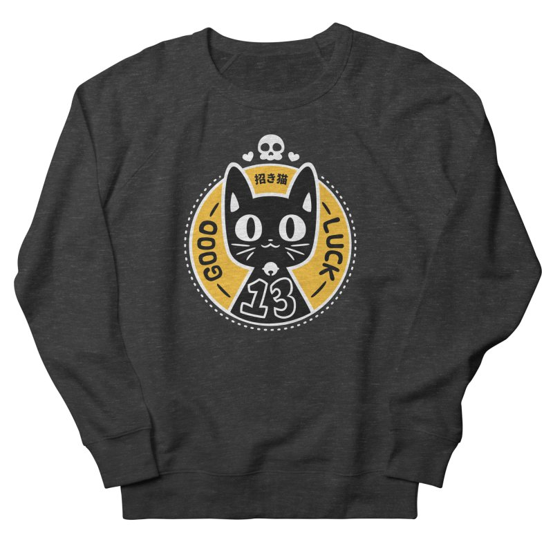 Black Cat Men's French Terry Sweatshirt by ZombieMiki's Shirts & Stuff