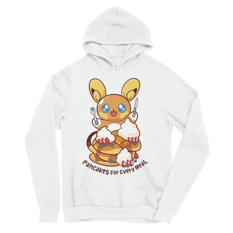 Pancakes For Every Meal Men's Sponge Fleece Pullover Hoody by ZombieMiki's Shirts & Stuff