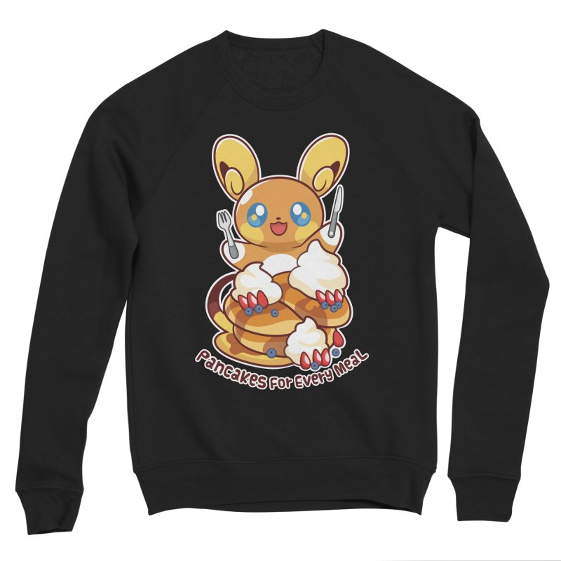 Pancakes For Every Meal Men's Sponge Fleece Sweatshirt by ZombieMiki's Shirts & Stuff