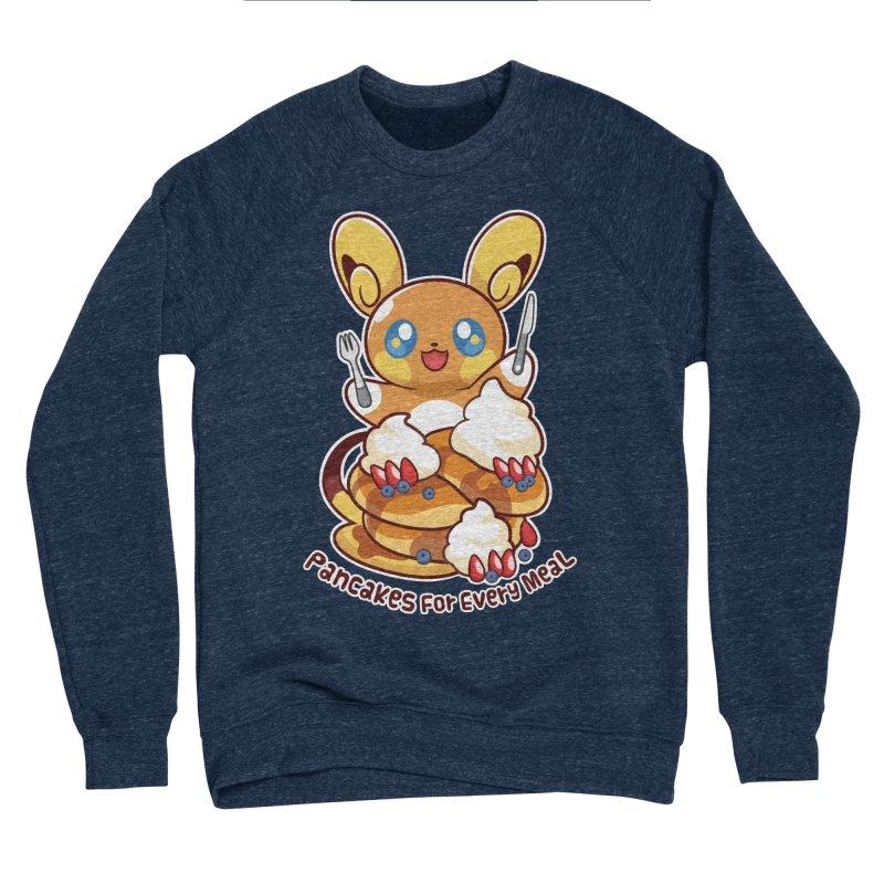 Pancakes For Every Meal Men's Sponge Fleece Sweatshirt by ZombieMiki's Shirts & Stuff