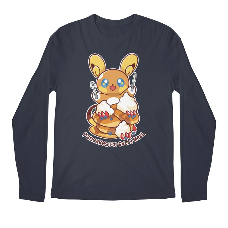 Pancakes For Every Meal Men's Longsleeve T-Shirt by ZombieMiki's Shirts & Stuff