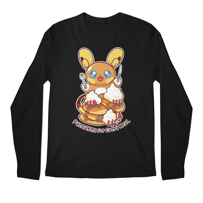 Pancakes For Every Meal Men's Regular Longsleeve T-Shirt by ZombieMiki's Shirts & Stuff