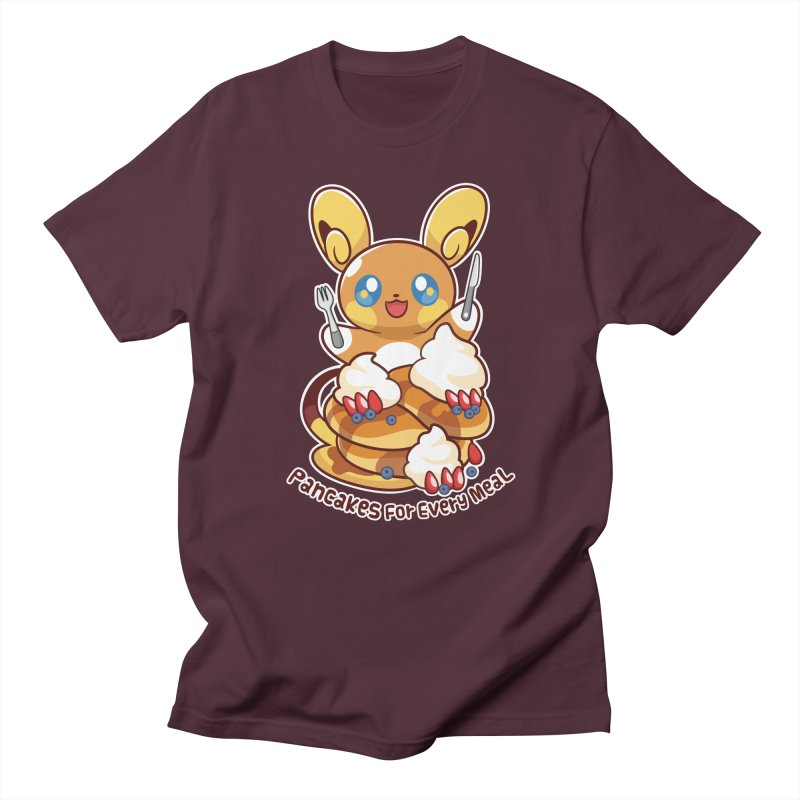 Pancakes For Every Meal Men's Regular T-Shirt by ZombieMiki's Shirts & Stuff