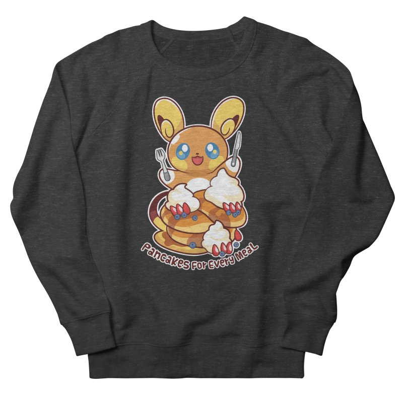 Pancakes For Every Meal Men's French Terry Sweatshirt by ZombieMiki's Shirts & Stuff