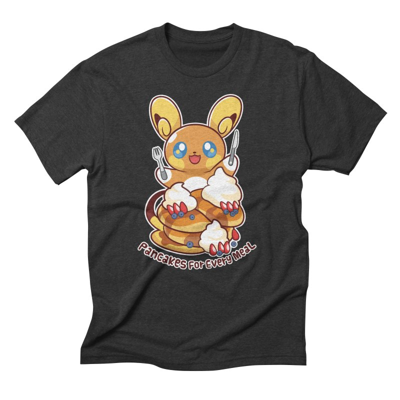 Pancakes For Every Meal Men's Triblend T-Shirt by ZombieMiki's Shirts & Stuff