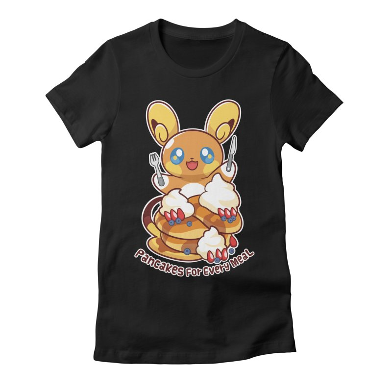Pancakes For Every Meal Women's Fitted T-Shirt by ZombieMiki's Shirts & Stuff
