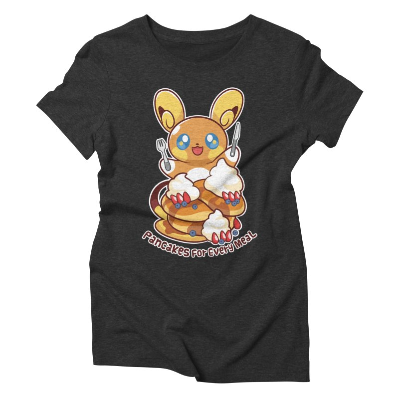 Pancakes For Every Meal Women's Triblend T-Shirt by ZombieMiki's Shirts & Stuff