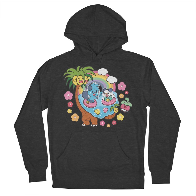 Tropical Vacation Men's French Terry Pullover Hoody by ZombieMiki's Shirts & Stuff