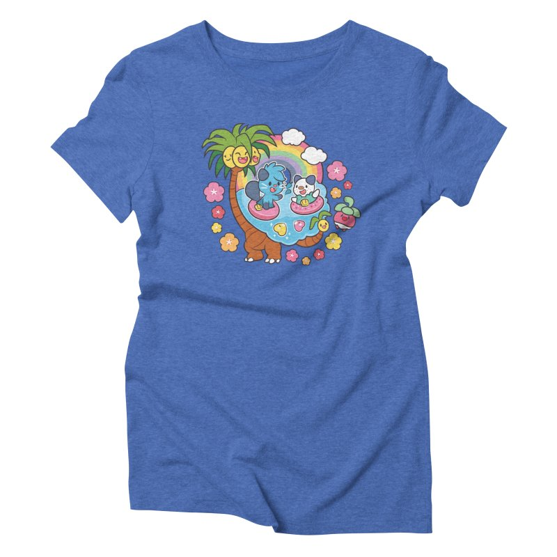 Tropical Vacation Women's Triblend T-Shirt by ZombieMiki's Shirts & Stuff