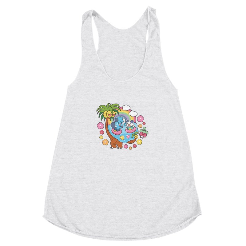 Tropical Vacation Women's Racerback Triblend Tank by ZombieMiki's Shirts & Stuff