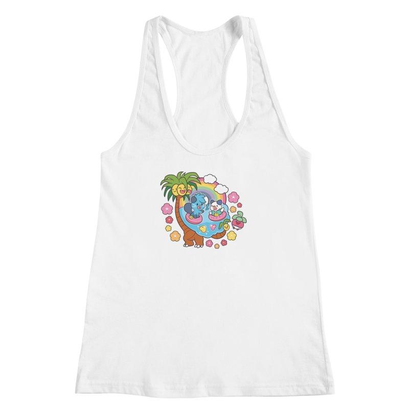 Tropical Vacation Women's Racerback Tank by ZombieMiki's Shirts & Stuff