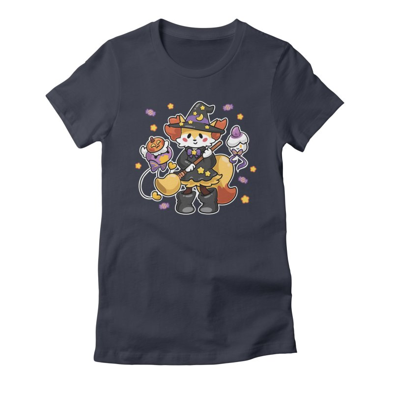 Halloween Ghosts Women's Fitted T-Shirt by ZombieMiki's Shirts & Stuff