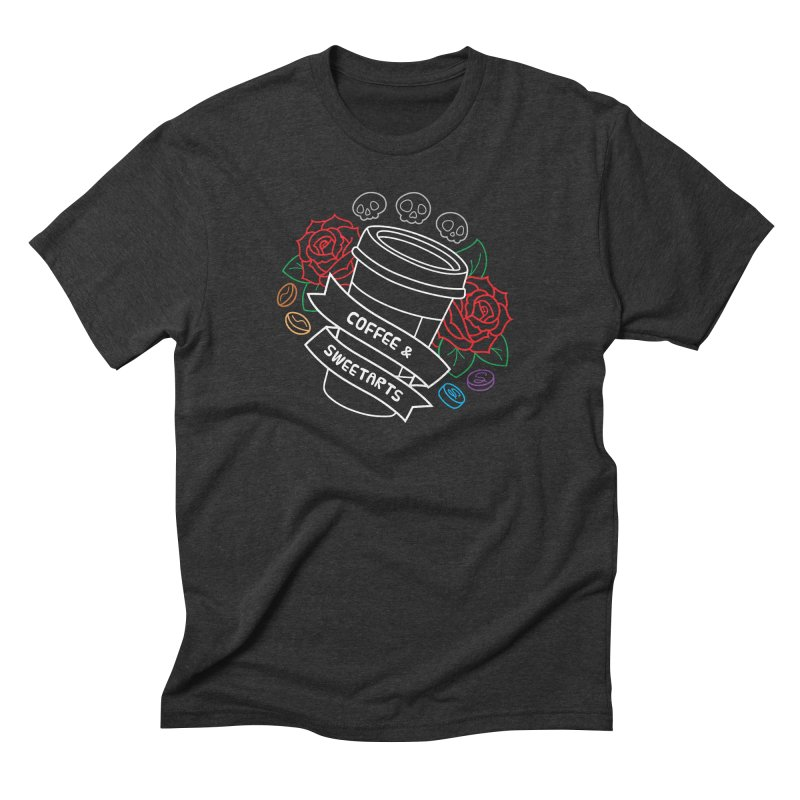 Coffee & Sweetarts Men's T-Shirt by ZombieMiki's Shirts & Stuff