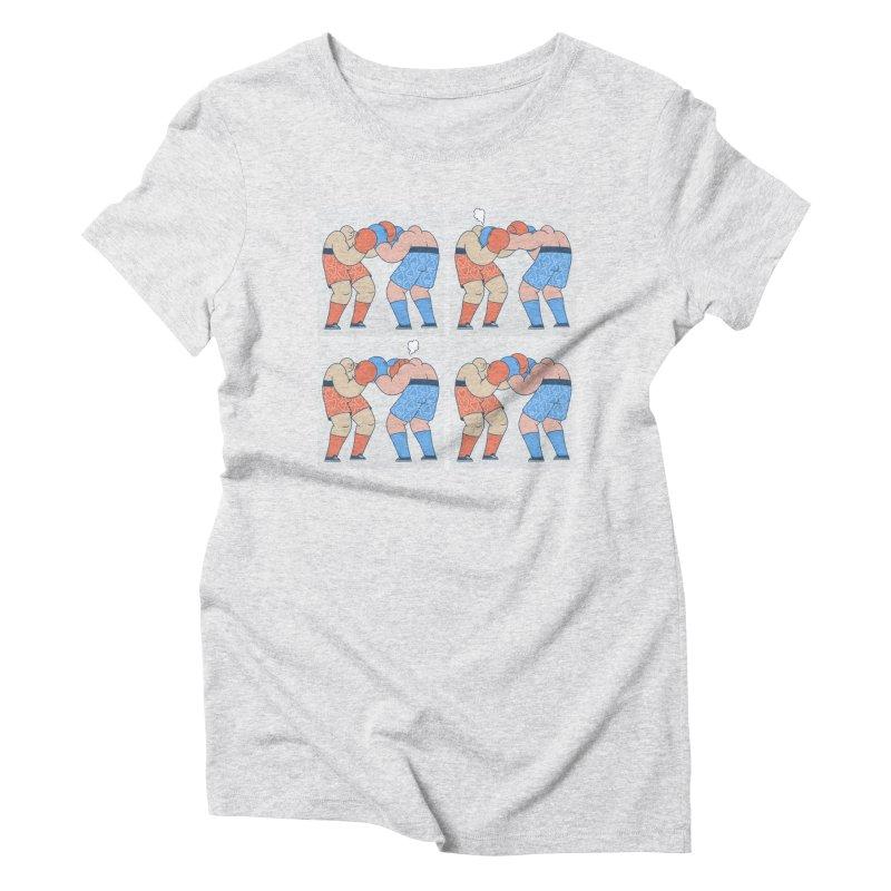 Boxing T-shirt Women's Triblend T-Shirt by Mikko Saarainen's Artist Shop