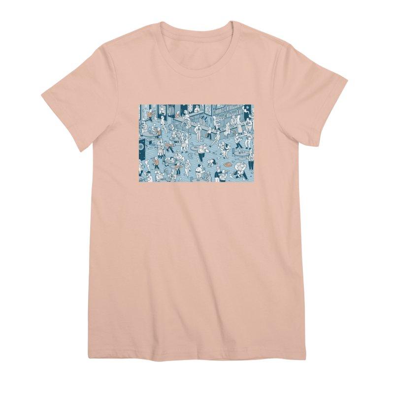 Pub T-shirt Women's Premium T-Shirt by Mikko Saarainen's Artist Shop