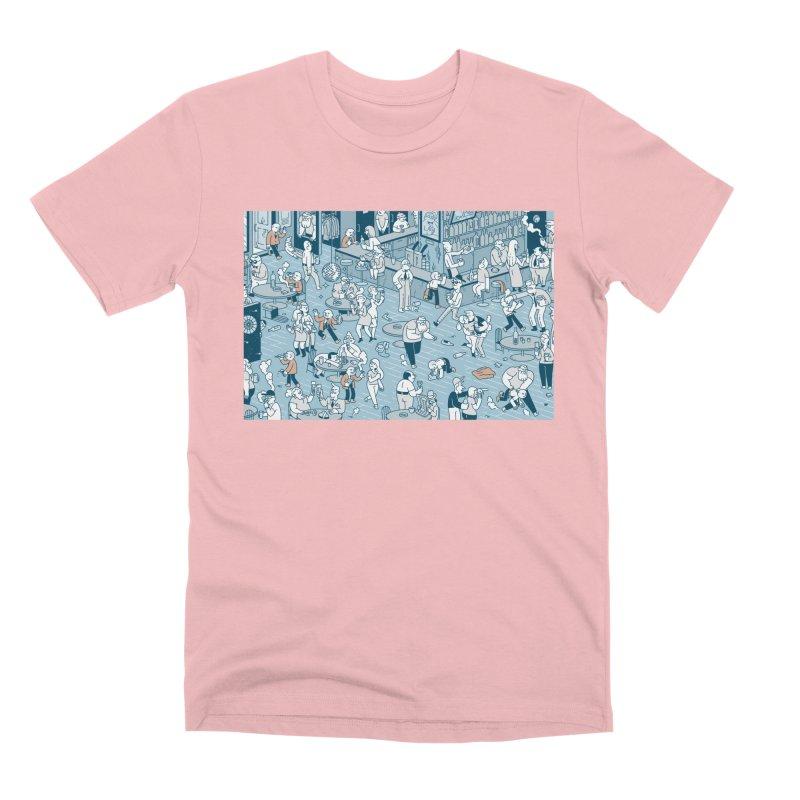Pub T-shirt Men's Premium T-Shirt by Mikko Saarainen's Artist Shop